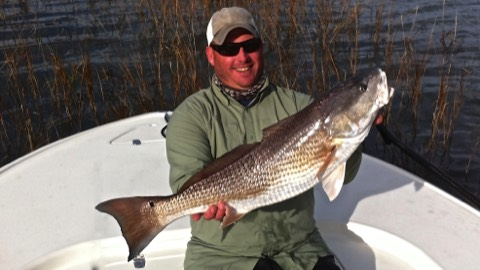big red fish caught on Hilton Head fishing charter